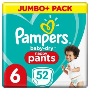 Pampers Baby Dry Pants Jumbo Pack Size 6 52 Nappies