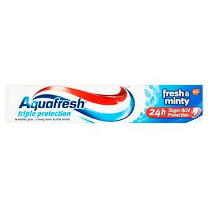 Aquafresh Triple Protection Fresh and Minty Toothpaste 75ml
