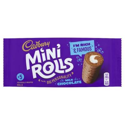 Cadbury Mini Chocolate Rolls- 5 Pack