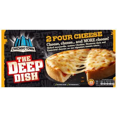 Chicago Town 2 Deep Dish Four Cheese Pizzas – 310g