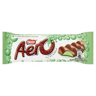Nestle Aero Mint Bubbly Chocolate Bar 40g