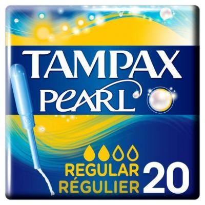Tampax Pearl Regular Tampons Applicator 20 Pack