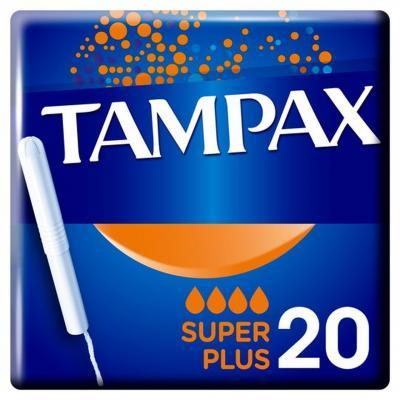 Tampax Super Plus Tampons Applicator Cardboard = 20