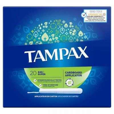 Tampax  Super Tampons Applicator Cardboard = 20